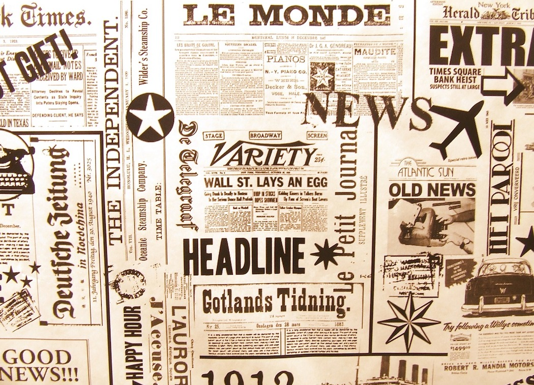 image of newspaper headlines