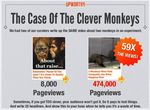 image of upworthy headline case study